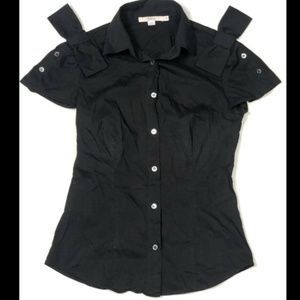 Red. Valentino 40 4 Small Black Shirt Bow Top
